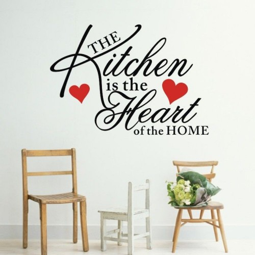 Samolepka Na Ze The Kitchen Is The Heart Of The Home
